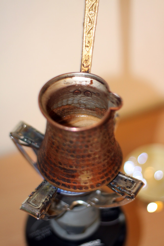 cuisson du cafe grec