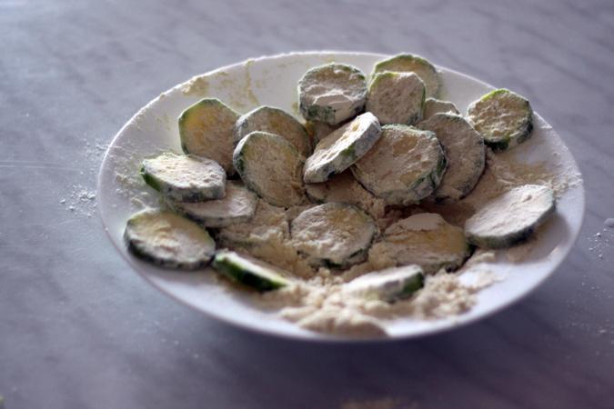 Les beignets de courgette pret à cuire