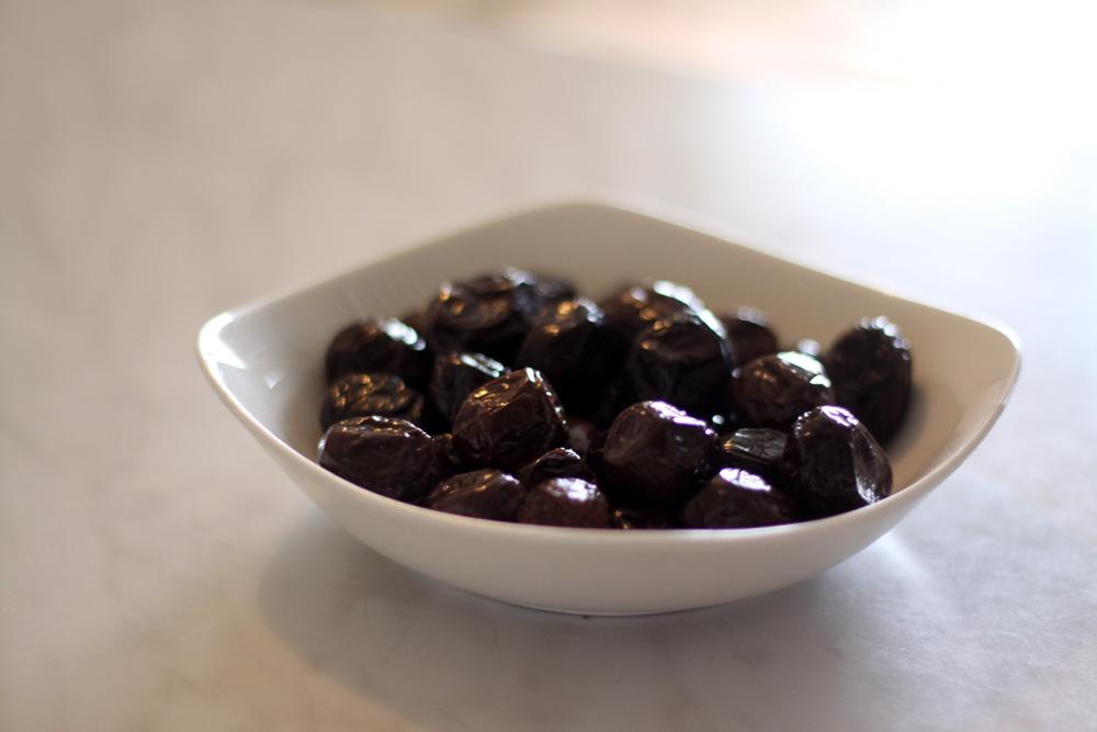 Olives noires pour salade grecque