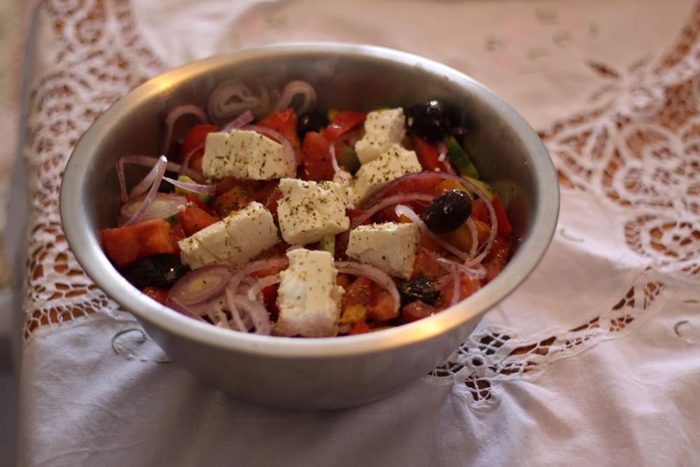 Recette salade grecque traditionnelle cuisine grecque - Recettes cuisine alsacienne traditionnelle ...