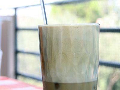 café frappé pret à etre dégusté