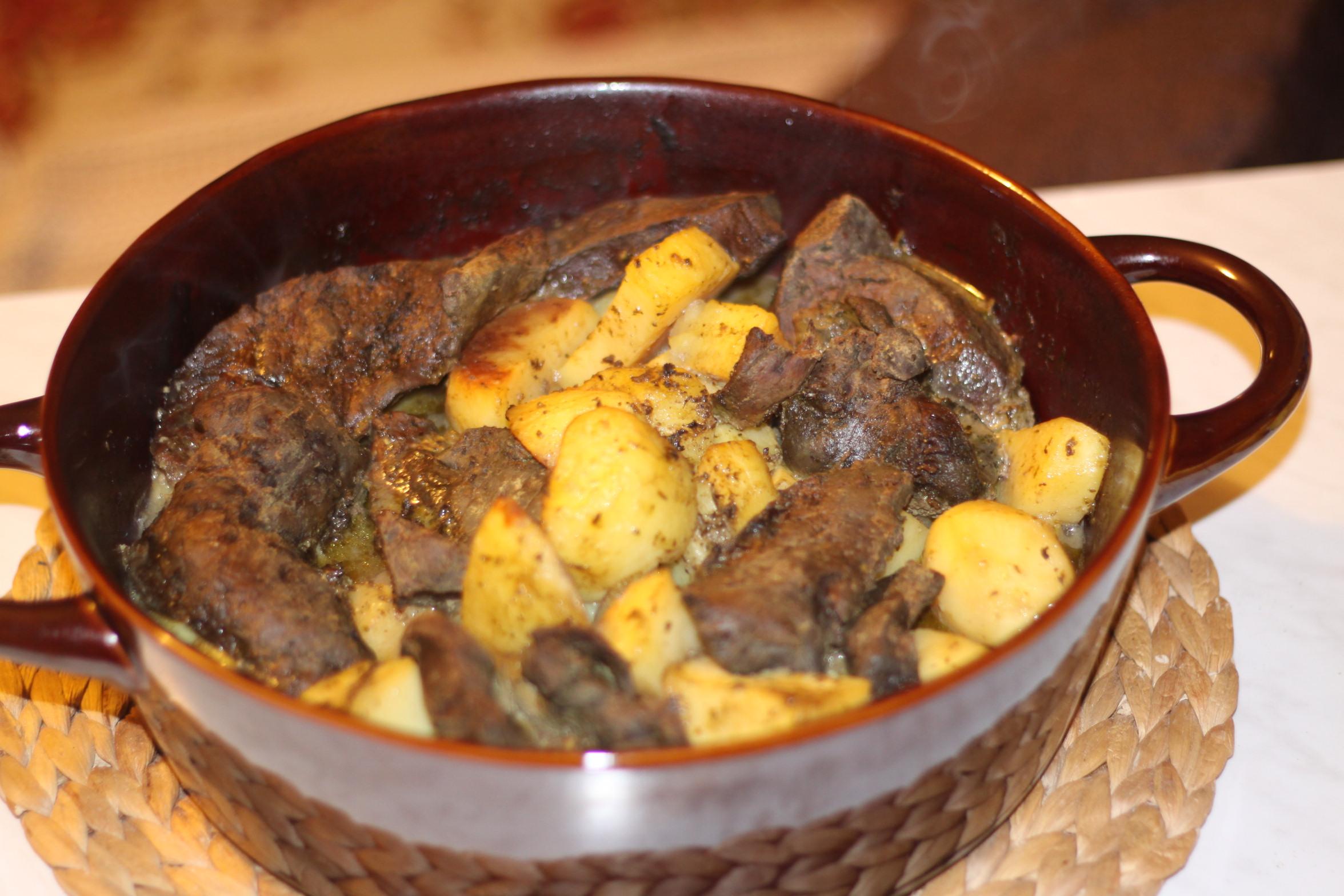 Recette foie de veau aux pommes de terre et aux for Cuisine grecque