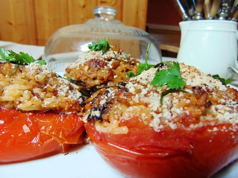recette tomate farcie aubergine farcie et poivron farci cuisine grecque. Black Bedroom Furniture Sets. Home Design Ideas